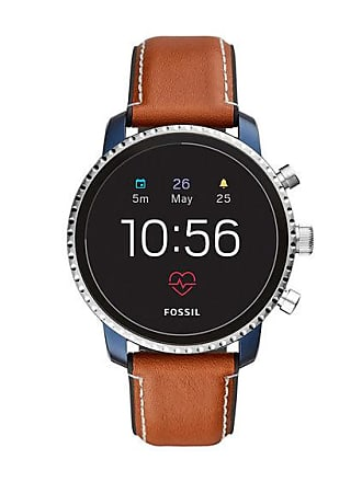 Zales Mens Fossil Q Explorist HR Strap Gen 4 Smart Watch with Black Dial (Model: Ftw4016)