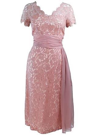99813ee68a 1stdibs 1950s Peach Lace Cocktail Dress With Draped Chiffon Waist Size 8 10