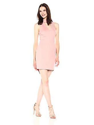 Adelyn Rae Womens Nicole Knit Keyhole Bodycon, Pink, L