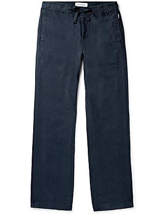 Orlebar Brown Stoneleigh Linen Drawstring Trousers - Navy
