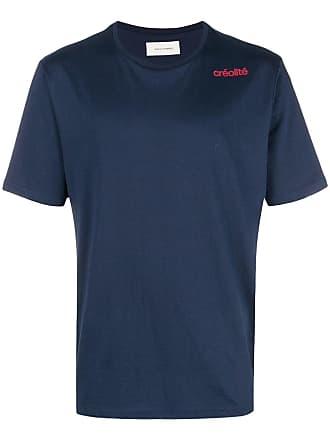 Wales Bonner Camiseta lisa mangas curtas - Azul