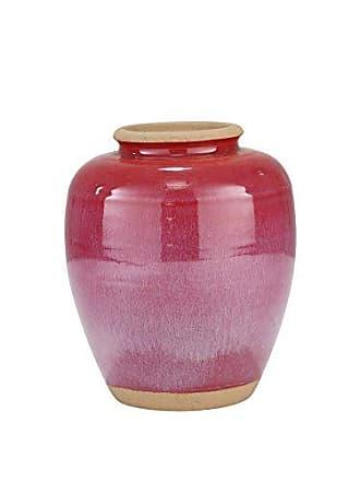Sagebrook Home Ceramic VASE, Fuchsia, 10.75x10.75x12.75