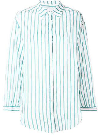Forte_Forte Camisa mangas longas listradas - Verde