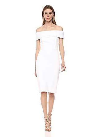 6edebfdde034 Calvin Klein Womens Seamed Off The Shoulder Dress, White 2, 2