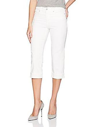 NYDJ Womens Marilyn Crop Cuff Jean, Optic White, 10