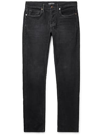 Tom Ford Slim-fit Stretch-cotton Corduroy Trousers - Gray