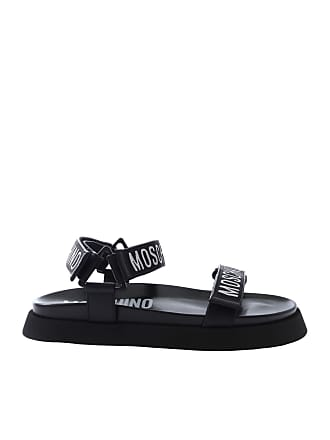 cd059f6931cb Moschino Black sandals with branded straps