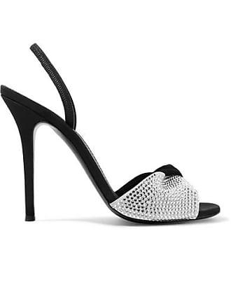 b711f59db59 Giuseppe Zanotti Alien Crystal-embellished Suede Slingback Sandals - Black