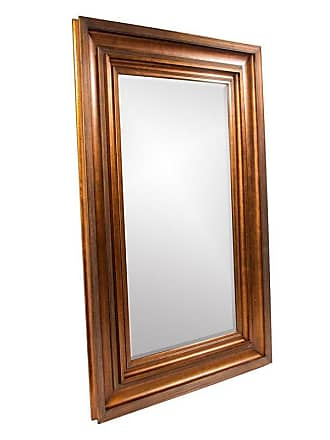 Elizabeth Austin Milan Baxter Antique Gold Leaning Floor Mirror - 58W x 90H in. - 43072