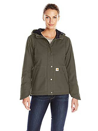 Carhartt Work in Progress Womens Full Swing Cryder Stretch Quick Duck Jacket, Olive, XS