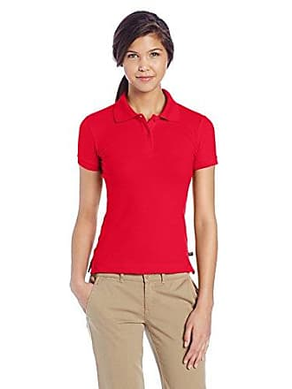 Lee Lee Juniors Plus Size Stretch Pique Polo, Red, XX-Large