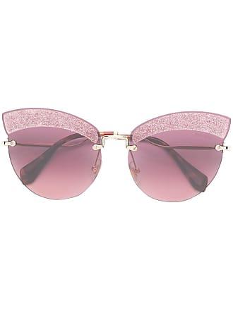 4423c218400 Miu Miu Eyewear Runaway show glitter sunglasses - Pink
