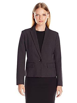 Ellen Tracy Womens Petite Size One Button Blazer, Charcoal, 10