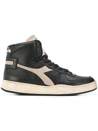 Diadora Sneakers alte Mi Basket - Di Colore Nero ae9b221421e