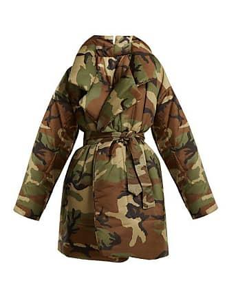 Norma Kamali Camo Print Sleeping Bag Knee Length Coat - Womens - Camouflage