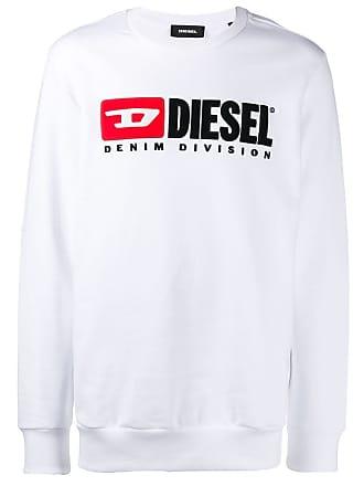Diesel contrast logo sweatshirt - White