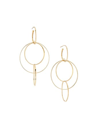 Lana Jewelry Bond Medium 14K Interlocking Flat Hoop Earrings