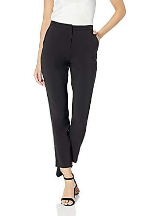 Nicole Miller Womens Tappered Ankle Pant, Black, 10