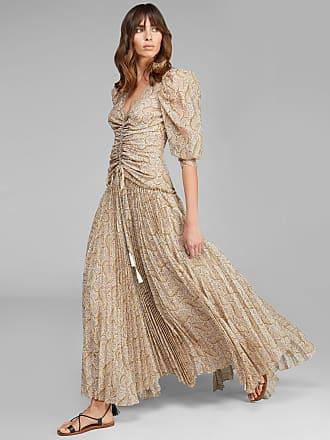 Etro Long Paisley Print Dress, Woman, Beige, Size 38