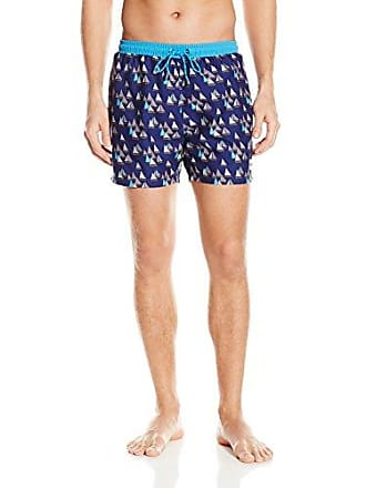b04119b7 HUGO BOSS BOSS Mens Piranha Swim Trunk, Open Blue, X-Large