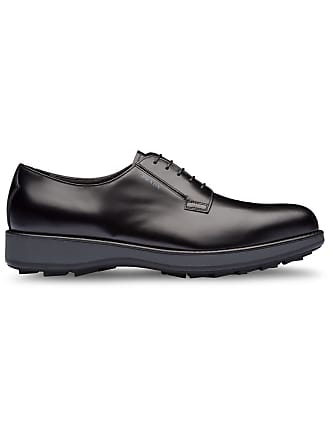b17a66542e1f Prada brushed leather derby shoes - Black