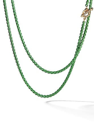 David Yurman 14kt yellow gold accented DY Bel Aire chain necklace - L4grn