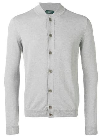 Zanone round neck cardigan - Grey