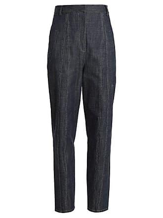 Tibi Easton Raw Denim High Waist Jeans - Womens - Indigo