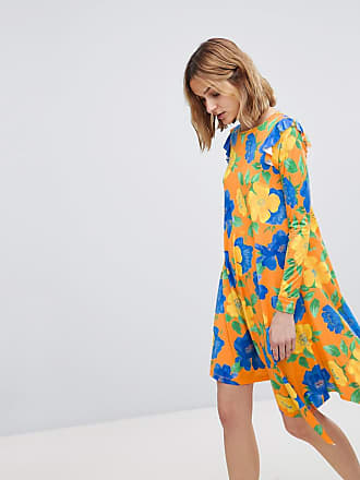 43b2fb9acc8a Asos ASOS - Vestitino con fondo asimmetrico e vivace stampa a fiori -  Multicolore
