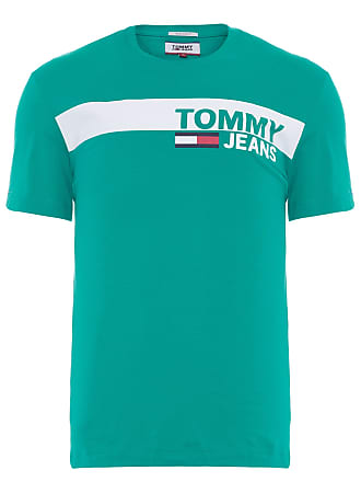 Tommy Jeans CAMISETA MASCULINA ESSENTIAL BOX LOGO - VERDE