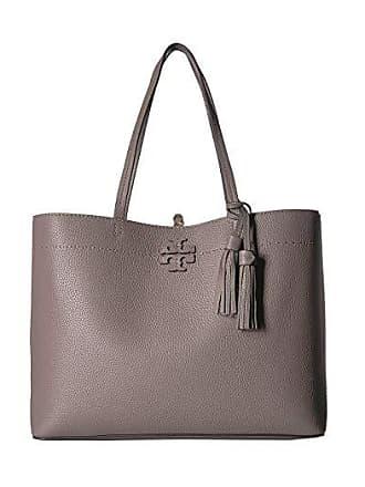 Tory Burch McGraw Tote (Silver Maple) Tote Handbags