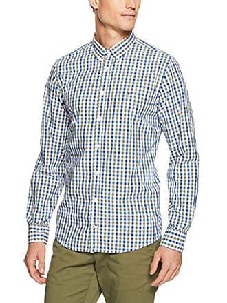e9543daa Tommy Hilfiger Mens Gingham Long Sleeve Shirt, Four Leaf Clover/Limoges, 2X-