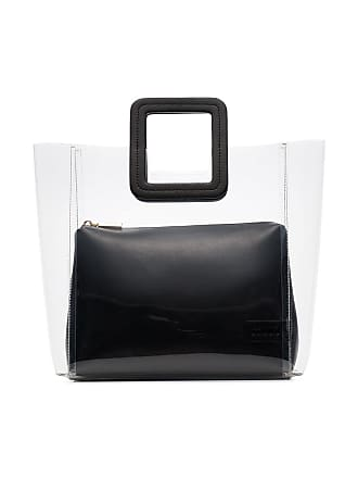 Staud black Shirley leather PVC tote bag - Preto