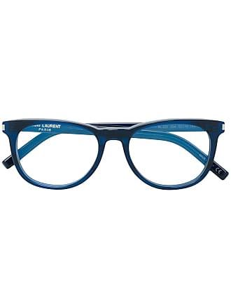 Saint Laurent Eyewear Armação de óculos redonda - Azul