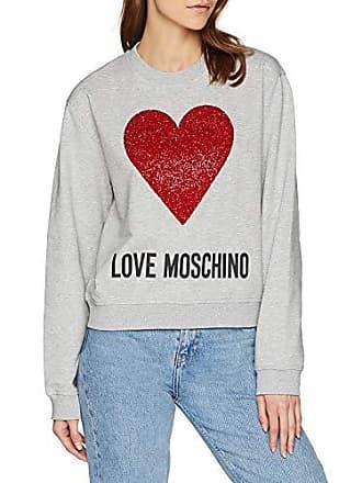 Love Moschino Damen Sweatshirt Sequin Heart Long Sleeve Sweater 27a6d1e5b6