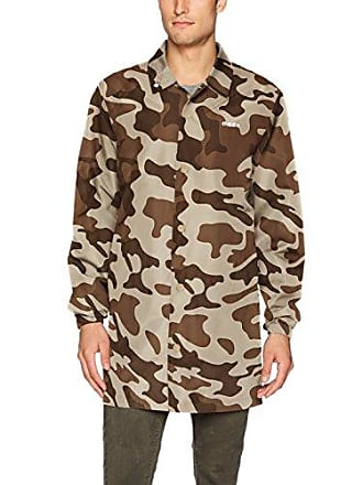 Obey Mens Master Long Coaches Jacket, camo, S