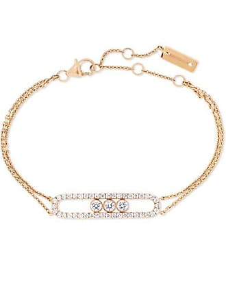 ee90980add5a78 Messika Move Classic 18-karat Pink Gold Diamond Bracelet - Rose gold