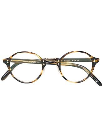 Oliver Peoples Armação de óculos tartaruga - Marrom