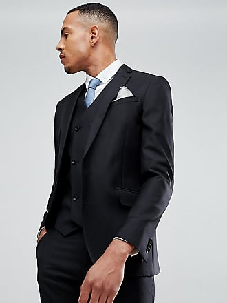 f8383a5a58e984 Asos ASOS TALL Slim Suit Jacket In Black 100% Wool