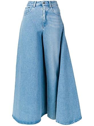 Y / Project Saia jeans desconstruída - Azul