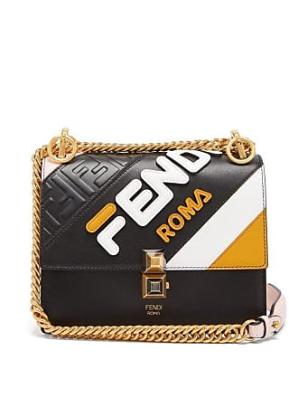 d22d4bfd0afe Fendi Mania Kan I Small Leather Cross Body Bag - Womens - Black Multi
