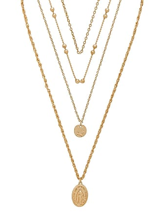 8 Other Reasons Hail Mary Necklace in Metallic Gold