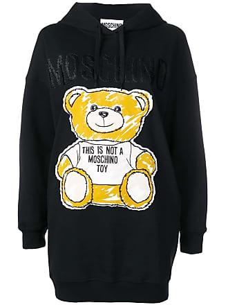 Moschino Brushstroke Teddy Bear hoodie dress - Black