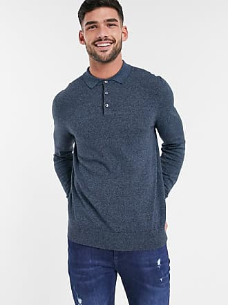 Burton Menswear polo in denim blue