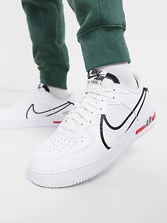 Nike Air Force 1 React trainers in white