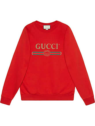 3bc6ab1b146 Gucci Oversize sweatshirt with sequin patches - Red