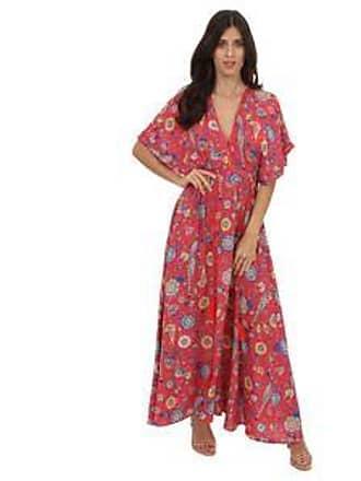 Lola Swimwear Vestido con Diseño de Flores y Aves Contrastantes<br>Rojo