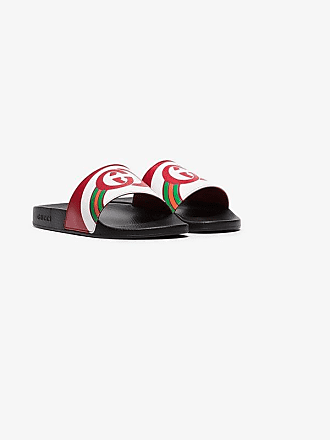 d3688c406a8 Gucci multicoloured Pursuit logo slides