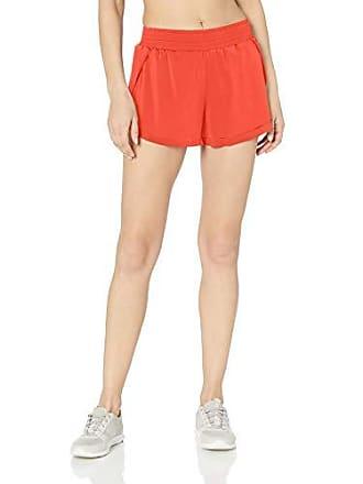 Maaji Womens Elastic Waist with Attached Brief Running Short, Vivid Spice Red, Medium