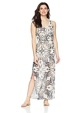 6f8a6d99fe Coastal Blue Womens Swimwear Wrap Front Maxi Beach Dress, tie dye Navy, XL (